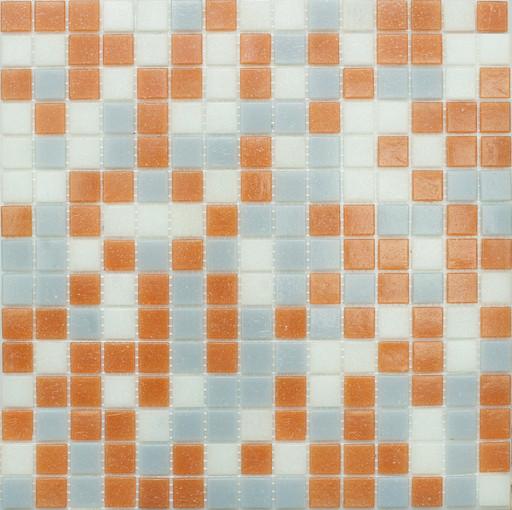 Мозаика Mix13 стекло серо-розовый  (бумага)