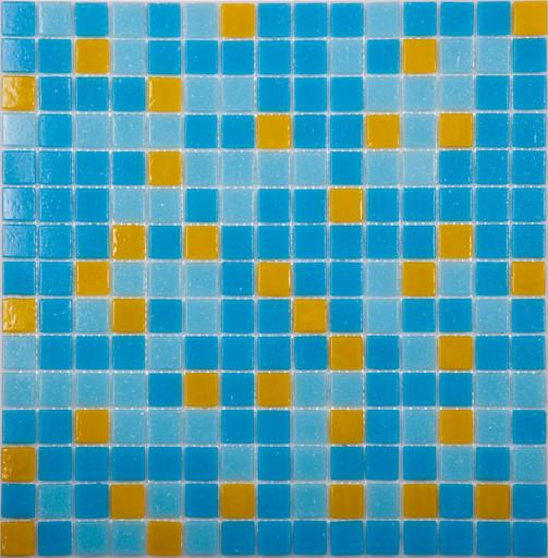 Мозаика Mix10 стекло желто-голубой  (бумага)