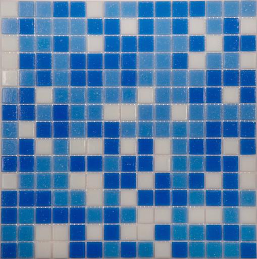 Мозаика Mix14 стекло бело-синий  (бумага)