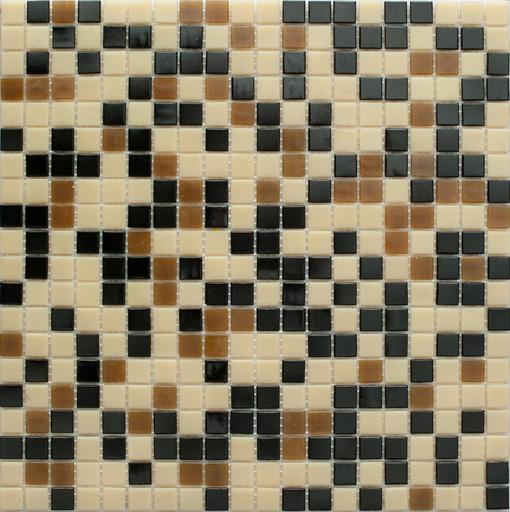 Мозаика Mix15  стекло черно-коричневый (сетка)