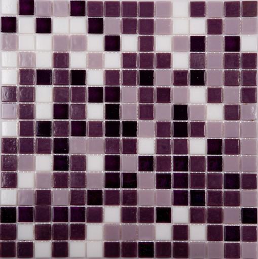 Мозаика Mix16 стекло фиолетовый  (бумага) (сетка)