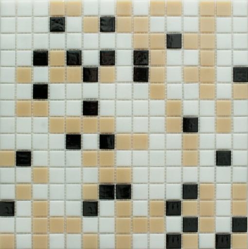 Мозаика Mix17  стекло черно-бело-коричневая  (бумага)