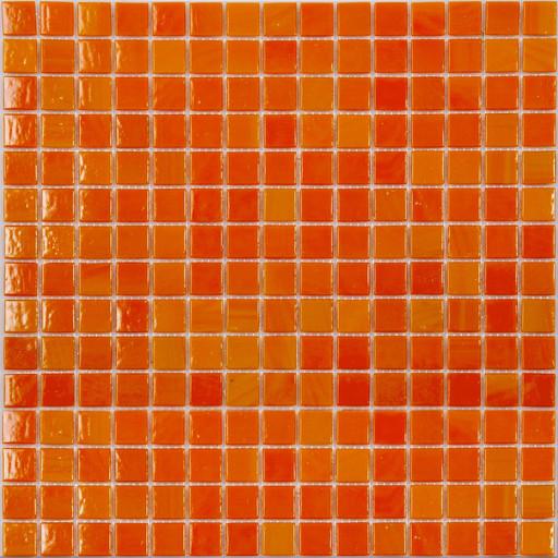 Мозаика AA01 стекло оранжевый (сетка)