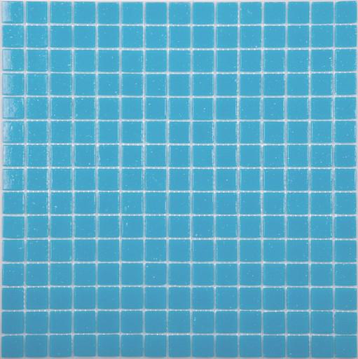 Мозаика AB03 стекло средне голубой (бумага)