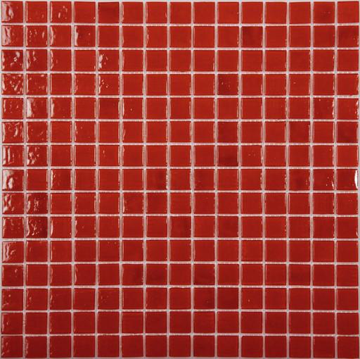 Мозаика AA21 стекло красный (сетка)