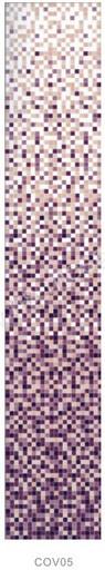 Растяжка  COV05 стекло (сетка)сиреневый фон от 1-9