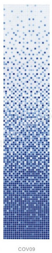 Растяжка COV05 стекло (сетка) голубой фон от 1-9
