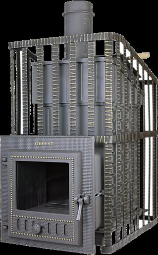 Печь банная Гефест Ураган ПБ 03 МС-ЗК 28 м3