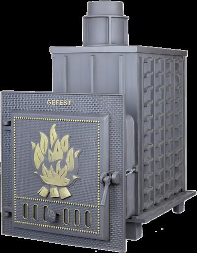 Чугунная банная печь ПБ-02 Гефест до 35 м3