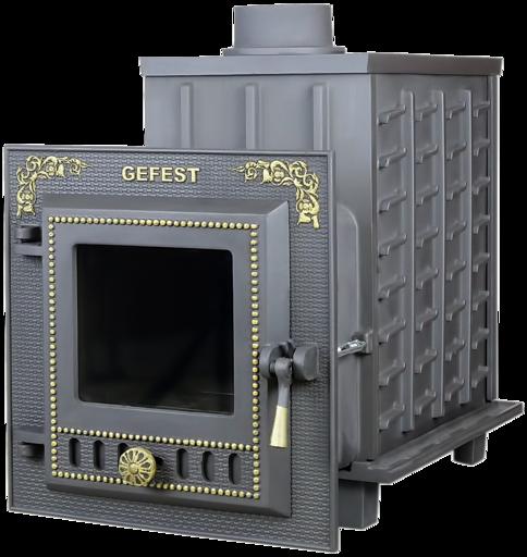 Чугунная банная печь ПБ-04М Гефест до 15 м3