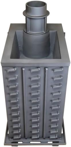 Чугунная банная печь ПБ-02С ЗК Гефест закрытая каменка до 40м3