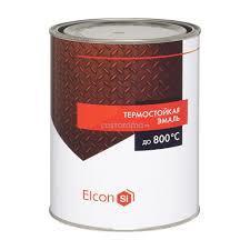 Эмаль термостойкая черная (0,8 кг) ELCON