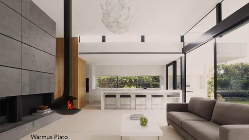 Камин подвесной Plato