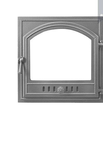Дверка каминная ВЕЗУВИЙ 205 ( не крашенная)