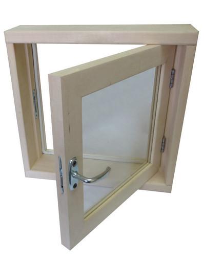 Окно банное липа 1 стекло