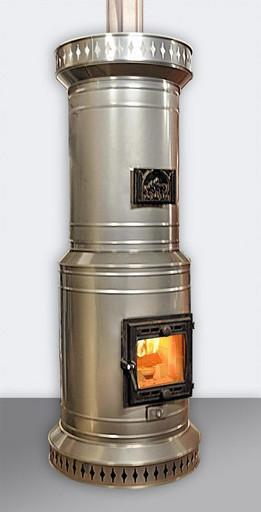 Печь ПКО-20 кирпичная в металлическом корпусе