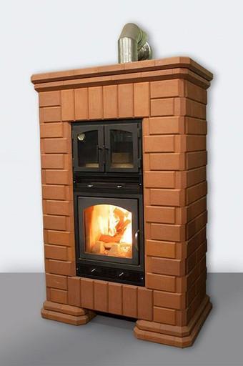 Печь-камин кирпичная КИВ-45 с духовым шкафом