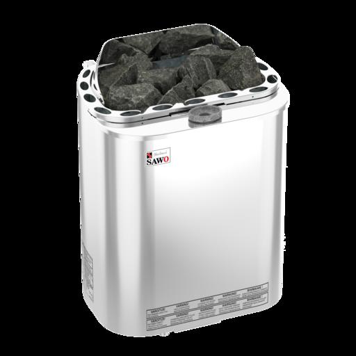 Электрические печи Sawo Scandia Combi SCAC-NS-Z навесные с парогенератором, с выносной панелью управления от 6,0 до 9,0 кВт