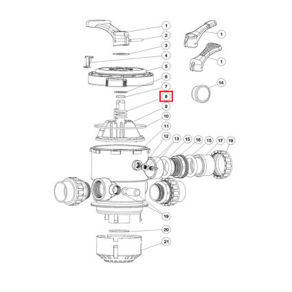 """Пружина (03014014) для 1.5"""" и 2"""" крана верхнего подключения фильтровAquaviva серии MPV"""