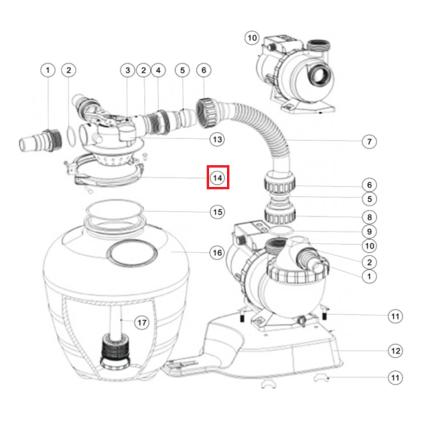Хомут крепления (89033602) для фильтров Aquaviva серии FSU