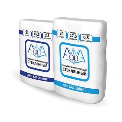 Песок стеклянный Aquaviva, фракция 0.5 - 1.5 мм
