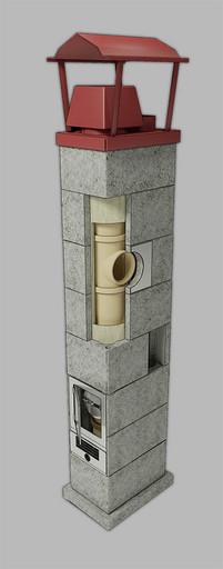 Одноходовая изостатическая система с вентканалом DV=140 мм 4 пм