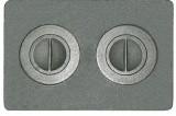Плита с двумя отверстиями для конфорок П2-7 (Р)