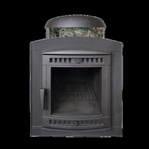 печь банная атмосфера чугунная 12-22м3 в ламелях жадеит