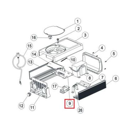 Плата контроля хлоратора Aquaviva SSC50 PCB Ver5.6