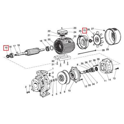 Уплотнительное кольцо фронтальное для насосов Saer IR4P80-315C Cast Iron (54710451)