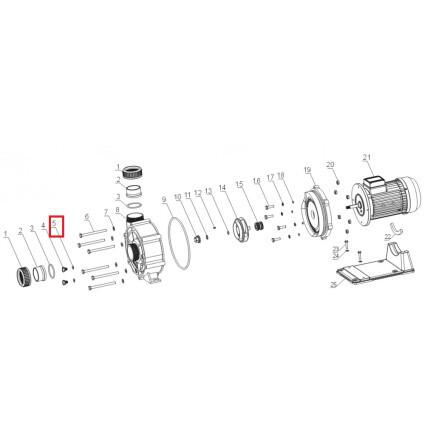 Уплотнительное кольцо дренажной заглушки Aquaviva WTB