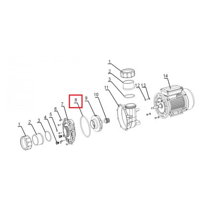Уплотнительное кольцо корпуса насоса Aquaviva LP300T