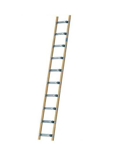 Лестница для крыш из алюминия и дерева KRAUSE