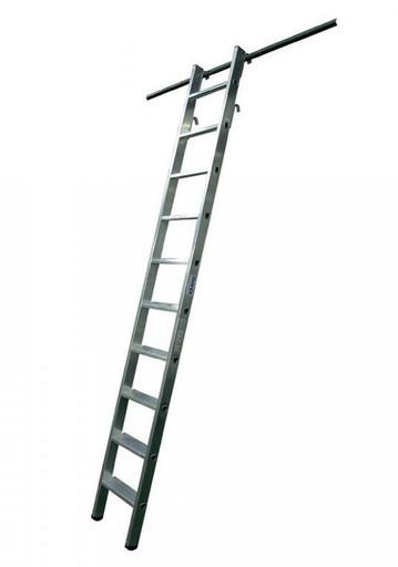 Навесная стеллажная лестница со ступенями с 1 и 2 парами крюков STABILO KRAUSE