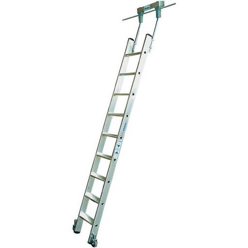 Стеллажная лестница со ступенями, для круглых шинных систем STABILO KRAUSE