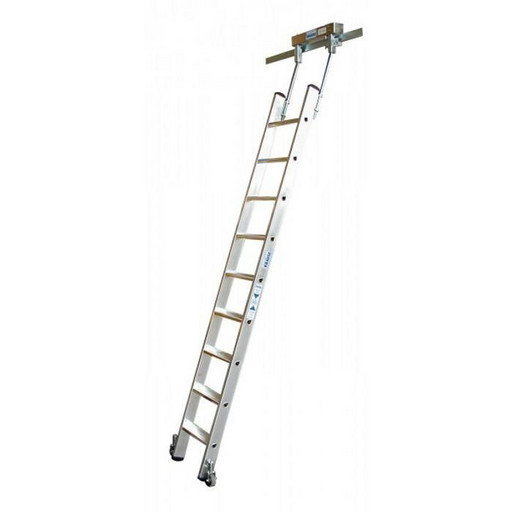 Стеллажная лестница со ступенями, для Т-образных шинных систем STABILO KRAUSE