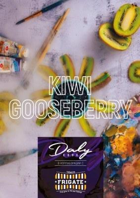 Бестабачная смесь Daly + Frigate Strong Edition - Kiwi Gooseberry (Киви Крыжовник), 100 + 4 гр.