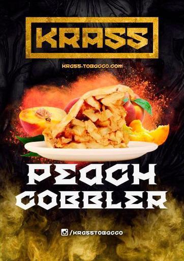 Табак Krass Yellow - Peach Cobbler (Персиковый пирог), 100 гр.