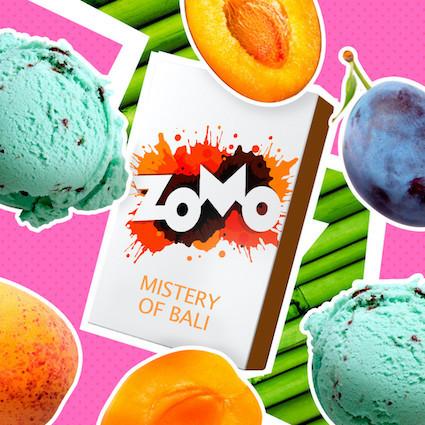 Табак Zomo - Mistery Of Bali (Абрикос, Слива, Мятное мороженое), 50 гр.