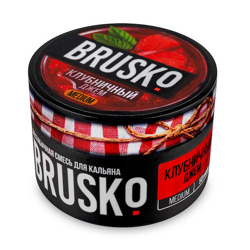 Бестабачная смесь Brusko - Клубничный джем, 50 гр.