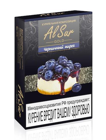 Бестабачная смесь Al Sur - Черничный пирог, 50 гр.