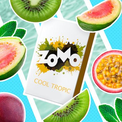 Табак Zomo - Cool Tropic (Маракуйя, гуава, киви, мята), 50 гр.
