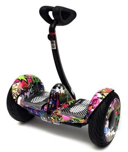 Мини-сигвей Mini Robot 54V Граффити Сиреневый