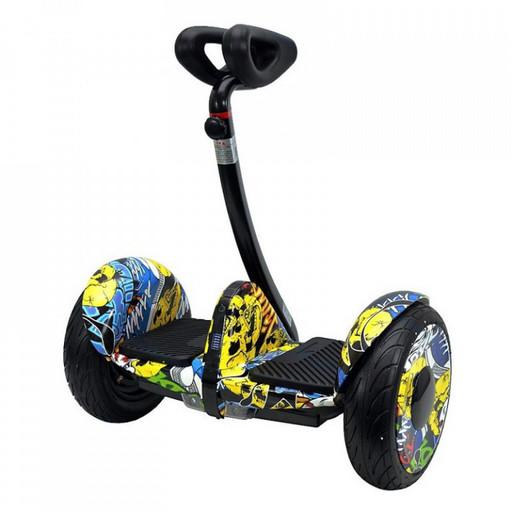 Мини-сигвей Mini Robot 36V Граффити Желтый