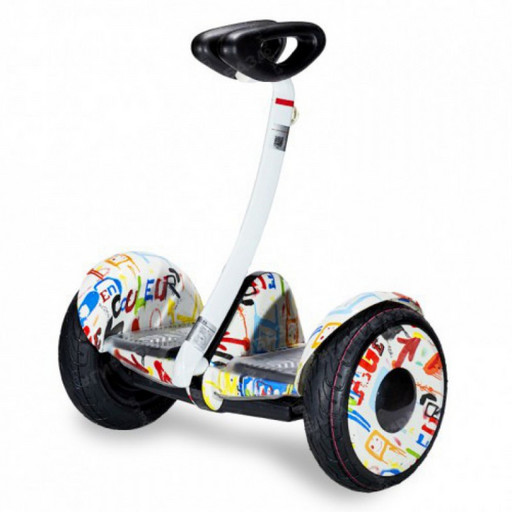 Мини-сигвей Mini Robot 36V Граффити Белый