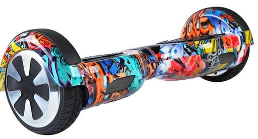 Гироскутер Smart Balance Wheel 6.5 Граффити Оранжевый Музыка + Самобаланс