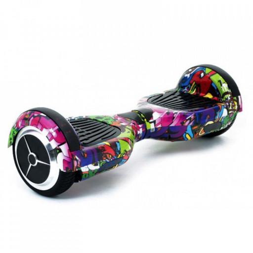 Гироскутер Smart Balance Wheel 6.5 Граффити Сиреневый Музыка + Самобаланс