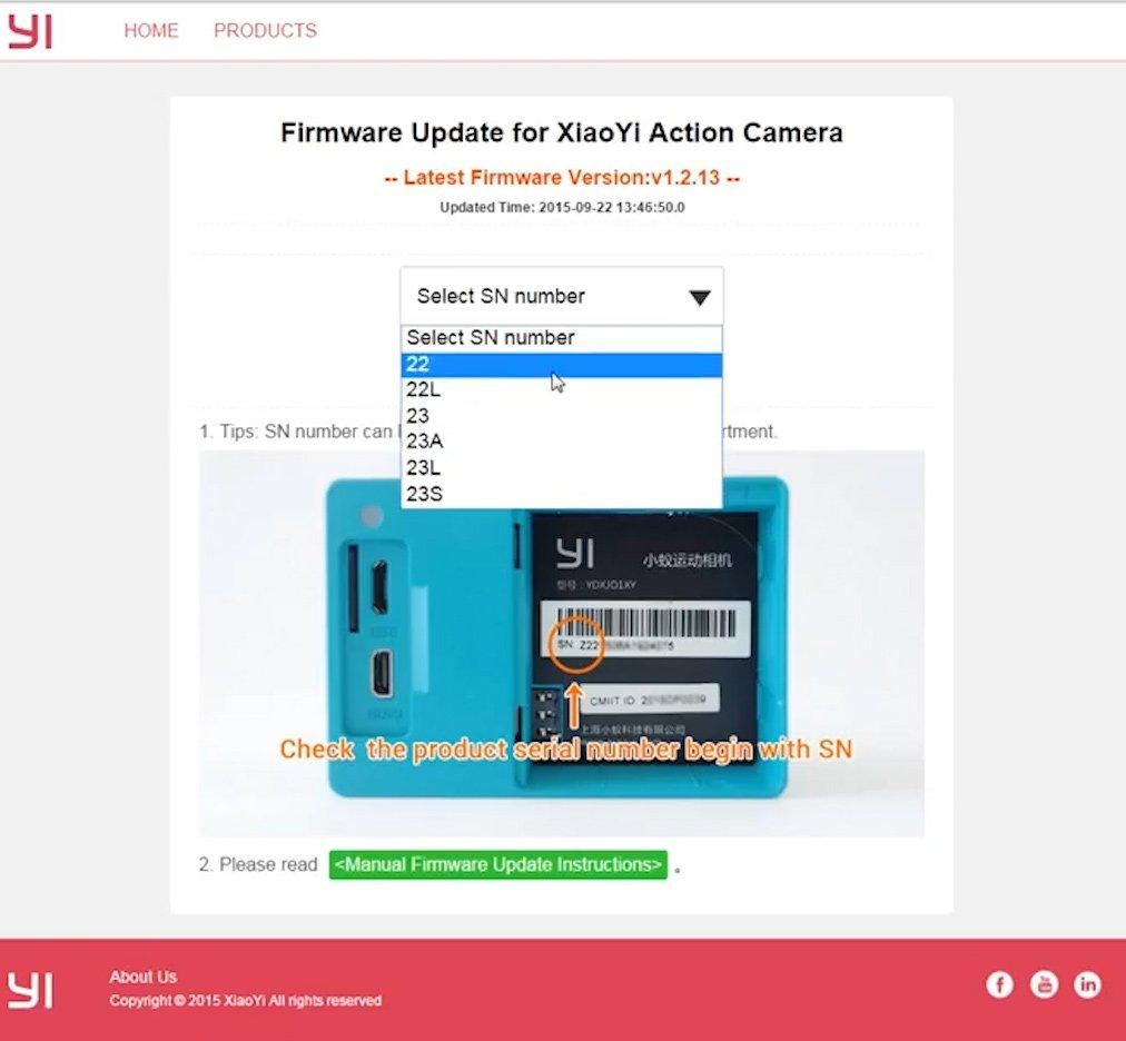 Сайт Xiaomi Yi