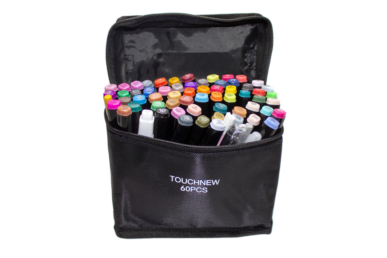 Маркеры Touch New 60 цветов в черных корпусах