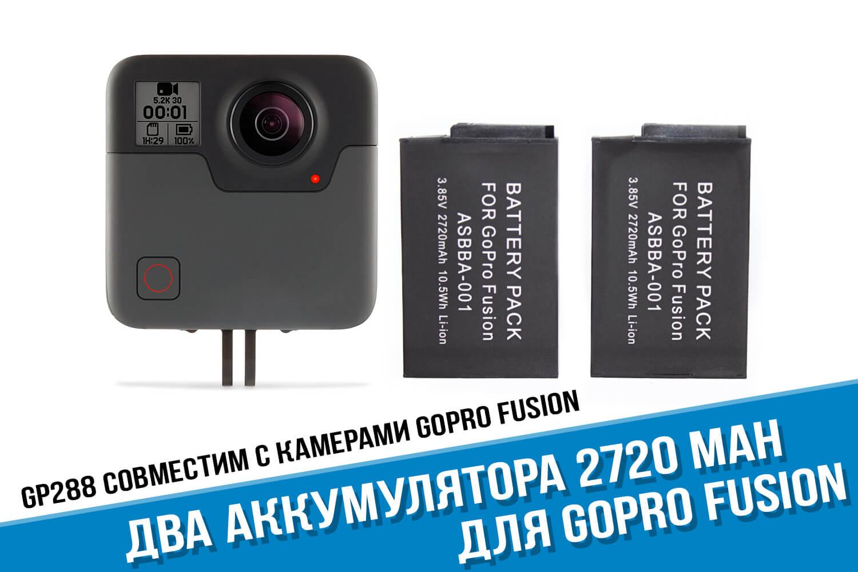 Комплект из двух аккумуляторов GoPro Fusion